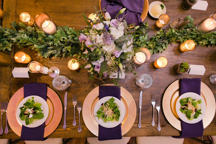 Custom Menus and Salad for Weddings