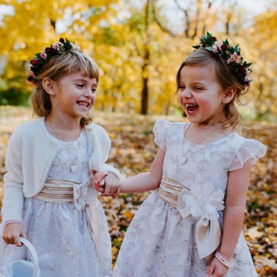 flower girls outside