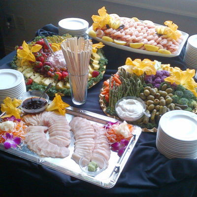 Hors d'oeurves display by McHale's Events and Catering