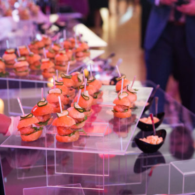 Sliders at a corporate event