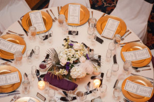 Table setting at an event by McHale's Catering & Events
